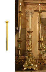 Candle Height Extenders, Brass