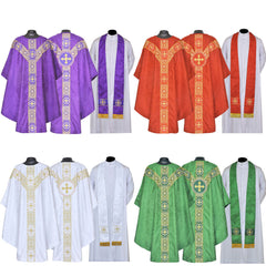 New Gothic Chasuble Vestment (complete set or chasuble & stole only)