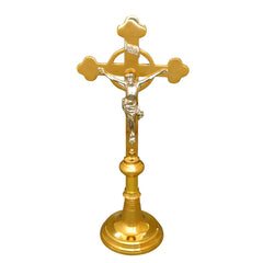 Crucifix - Rounded Design with Round Base (two heights available)