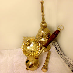 Holy Water Sprinkler, Ivory Handle