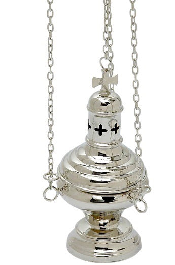 Thurible with cross gold plated