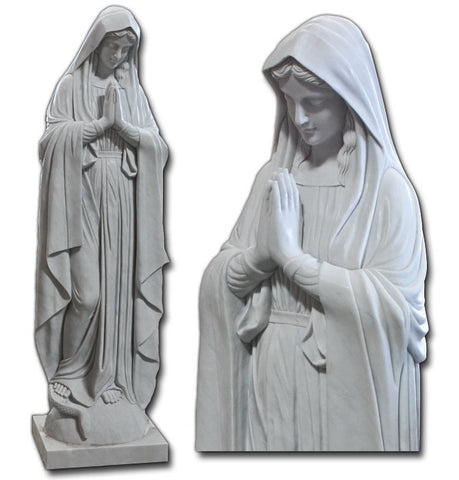 Mary Praying - Marble Statue 130cm