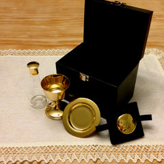 Communion Set (gold plated pyx, chalice, paten)
