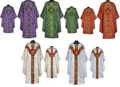 Gothic Chasuble Vestment and Stole (alt fabric)