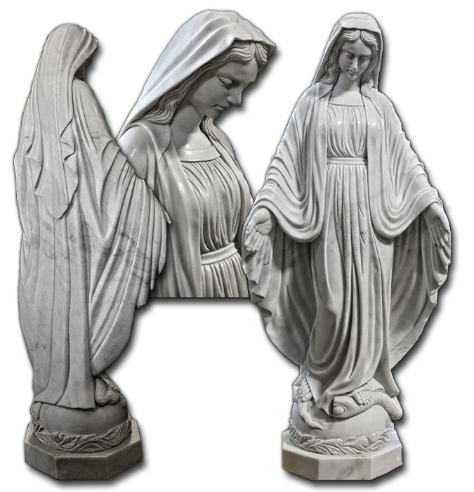Our Lady of Grace - Marble Statue 130cm
