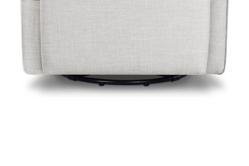 M11687FTLG,Whitney Glider with Ottoman in Light Grey Tweed