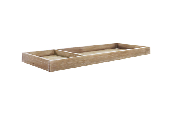 Universal Wide Removable Changing Tray Driftwood Finish
