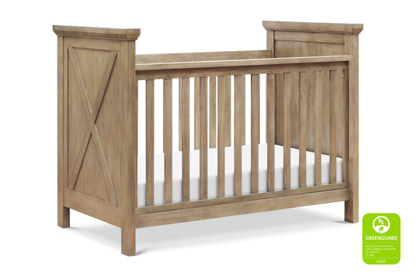Emory Farmhouse 3-in-1 Convertible Crib Driftwood Finish
