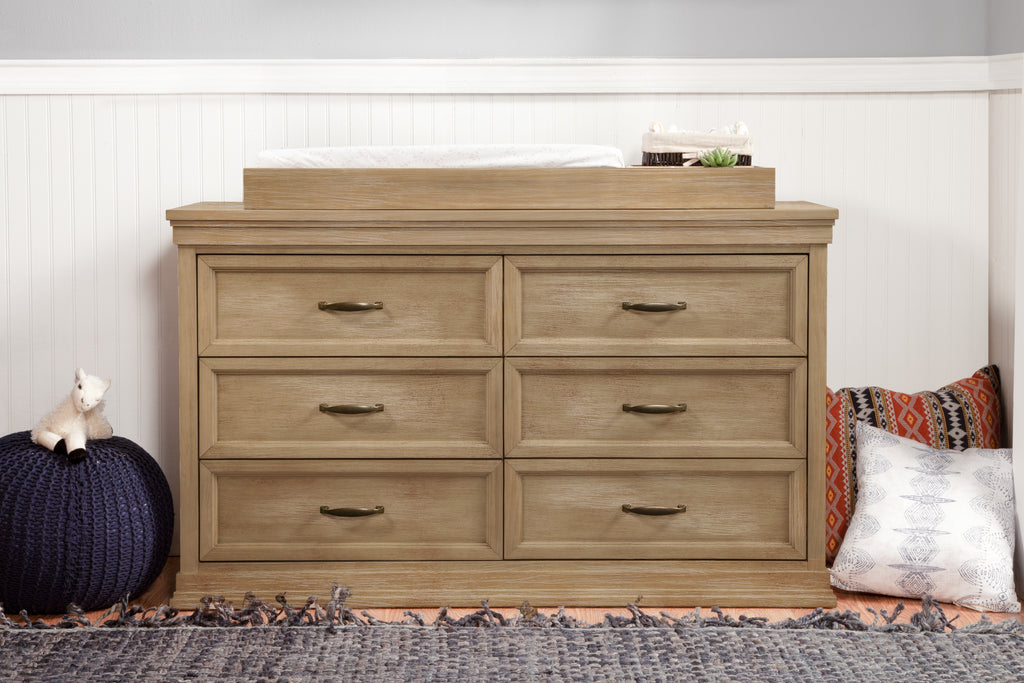 M14116DF,Langford 6-Drawer Dresser in Driftwood