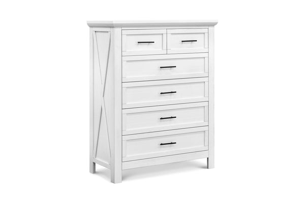 B14525LW,Emory Farmhouse 6-Drawer Chest in Linen White