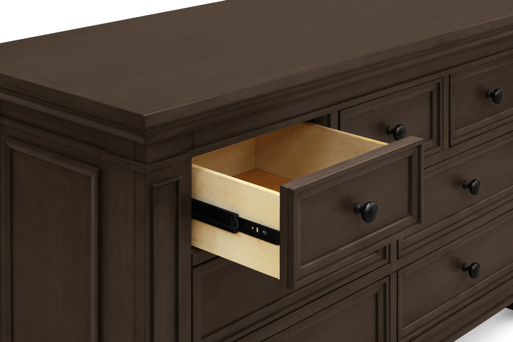 M7616TR,Classic Double-Wide Dresser in Truffle