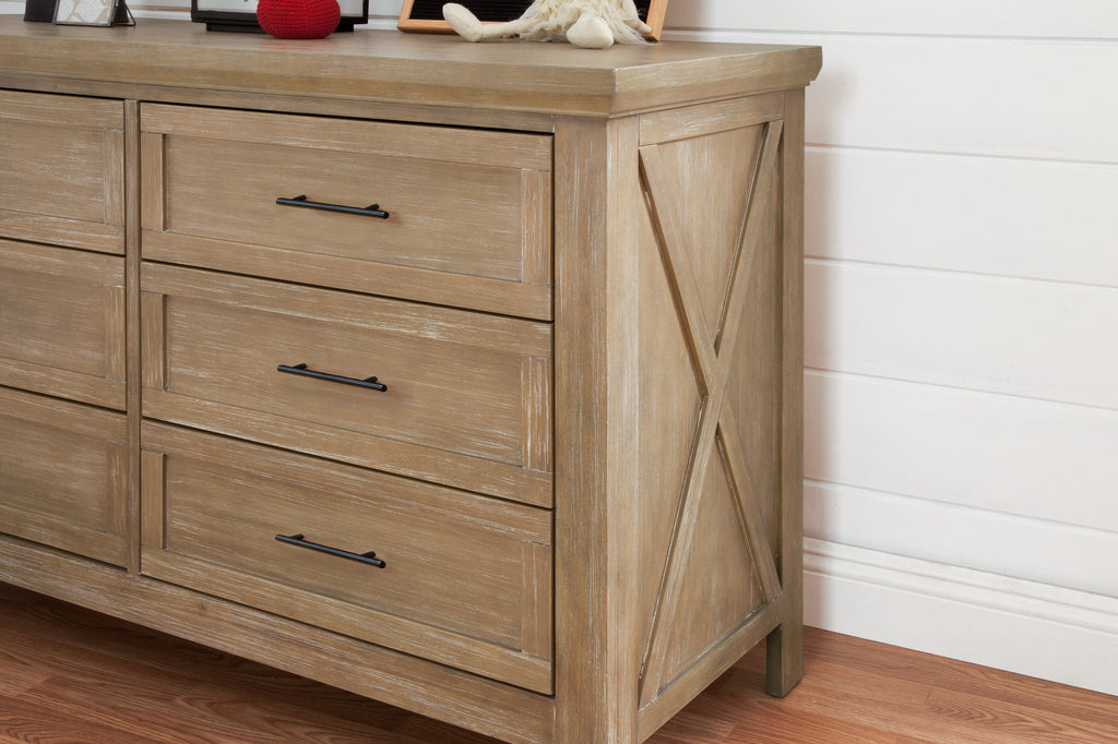 B14516DF,Emory Farmhouse 6-Drawer Dresser in Driftwood Finish