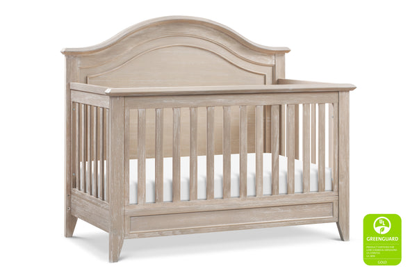 Beckett Rustic 4-in-1 Convertible Curve Top Crib Sandbar