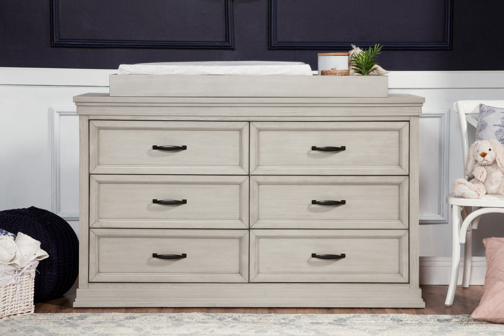 M14116LF,Langford 6-Drawer Dresser in London Fog