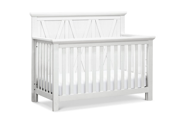 franklin and ben emory farmhouse 4-in-1 convertible crib Linen White