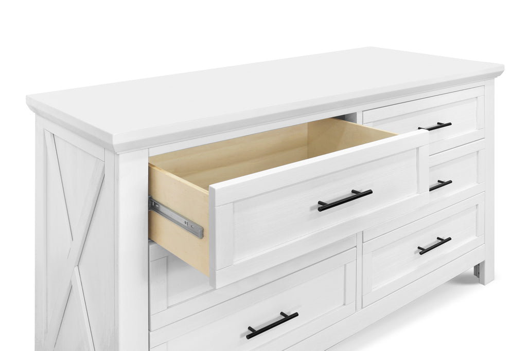 B14516LW,Emory Farmhouse 6-Drawer Dresser in Linen White