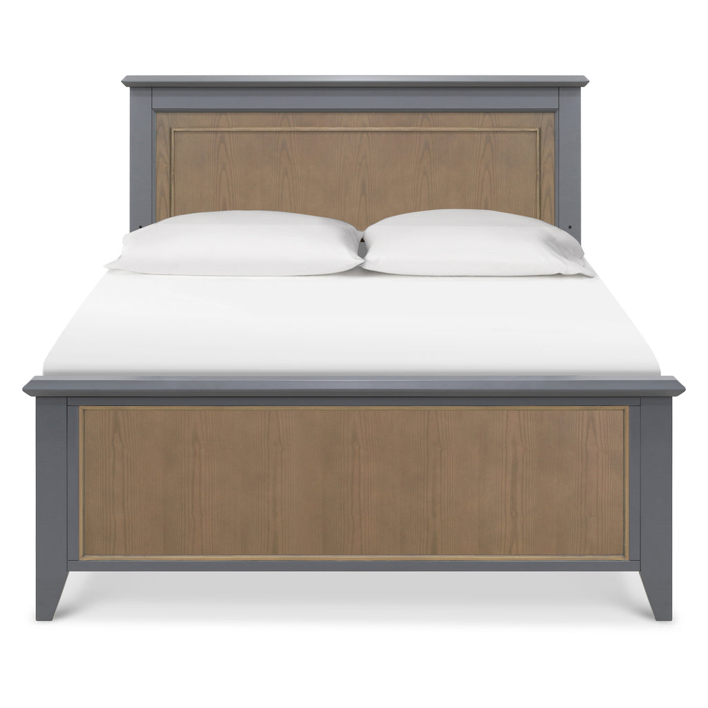 B14489TA,Beckett Low Profile Footboard In Stone and Dark Ash