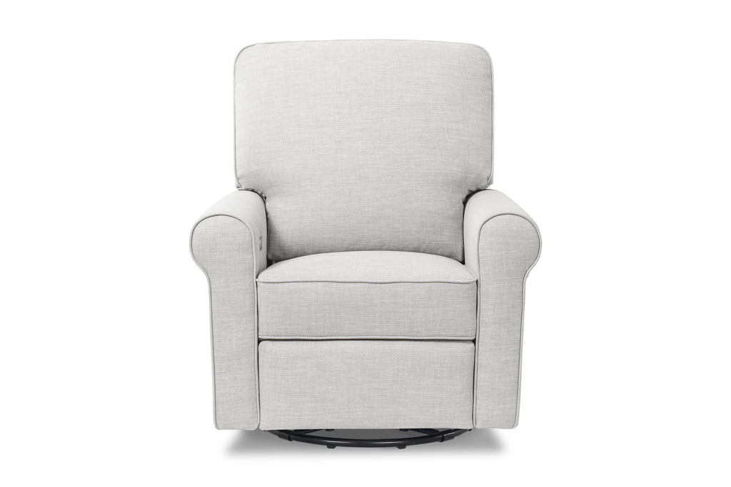 B17787FTLG,Monroe Pillowback Power Recliner in Light grey tweed