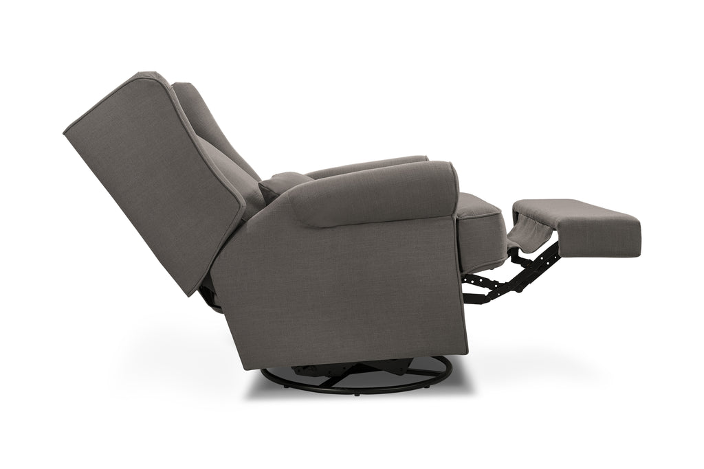 B17687STG,Tahoma Wingback Recliner in Stone Grey Linen