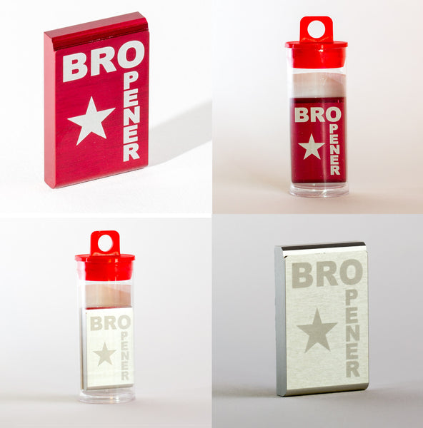 RED AND SILVER BROpener Bottle Opener - BUY ONE GET ONE! QUANTITY 2 PER ORDER - 1 OF EACH COLOR