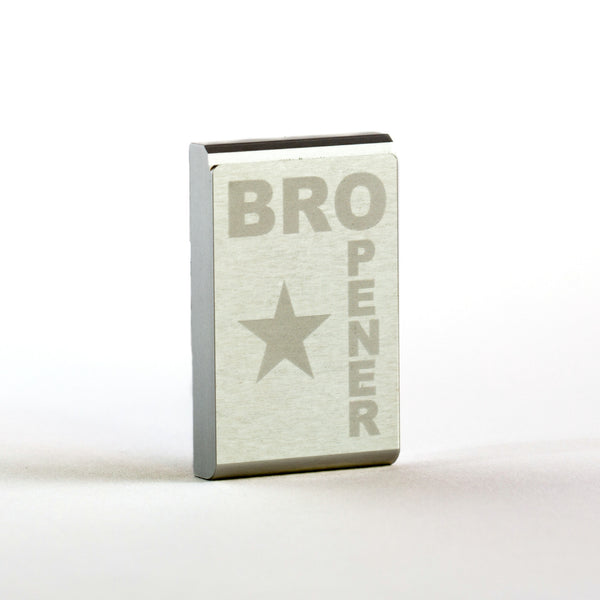 Silver Anodized BROpener Bottle Opener - BUY ONE GET ONE! QUANTITY 2 PER ORDER