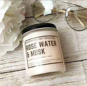 Rose water and musk