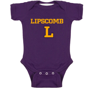 Infant Lap Shoulder Onesie, Purple