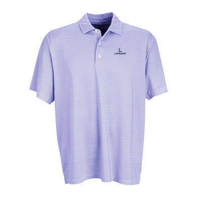 Vantage Men's Tonal Micro Stripe Polo, White/Purple
