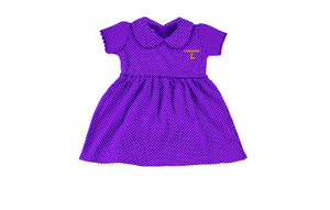Infant Peter Pan Dress With Bloomers, Purple