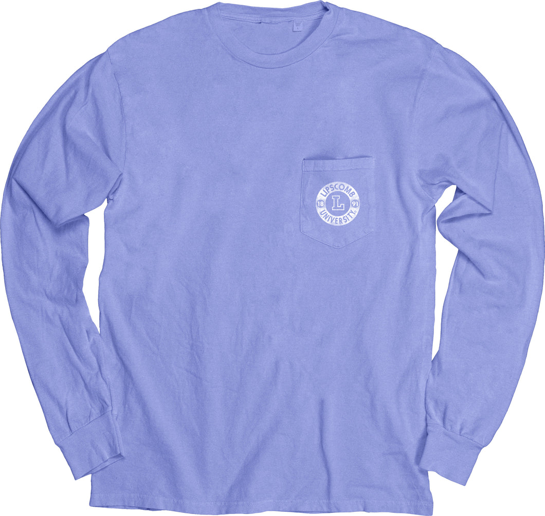 Blue 84 Dyed Ringspun Long Sleeve W/Pocket, Peri