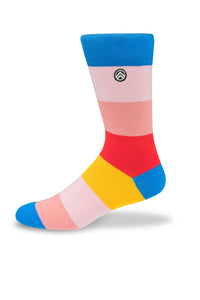 Sky Footwear Socks, Colorful Block Stripes