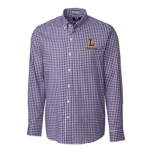 Cutter & Buck Men's Long Sleeve Button Up League, College Purple