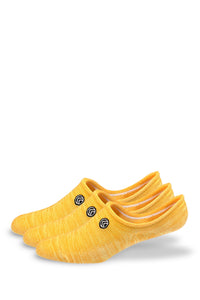 Sky Footwear No Show Socks, Yellow