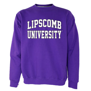 OnMission Core Cotton Crew Sweatshirt, Purple