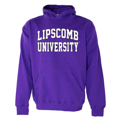 OnMission Core Cotton Hooded Sweatshirt, Purple