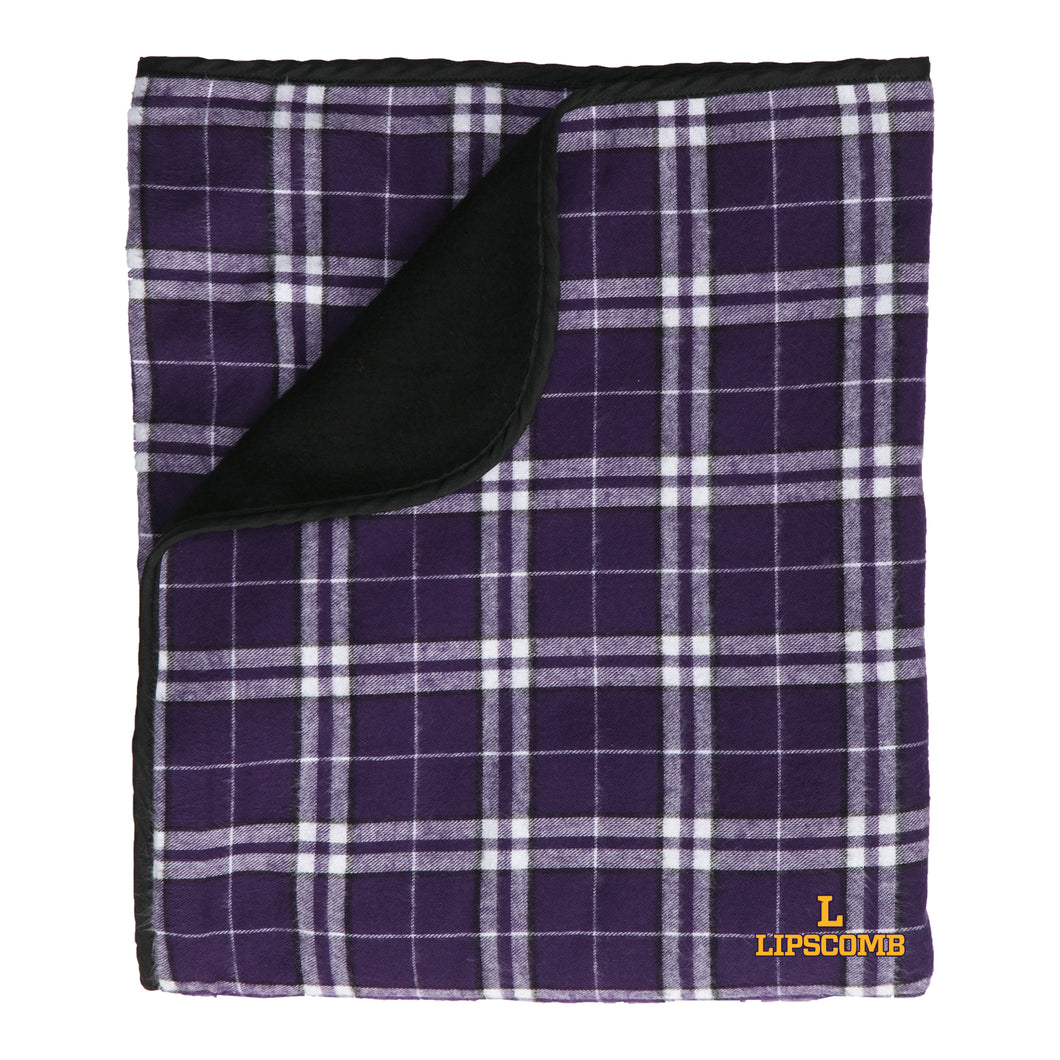 Boxercraft Gifts Premium Flannel Blanket, Purple/Black