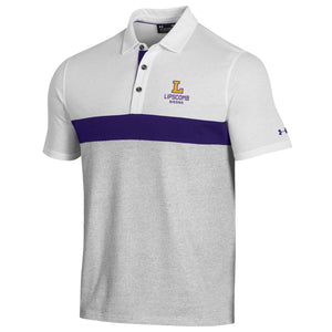 Under Armour Men's Skybox Polo, Onyx/White/Purple