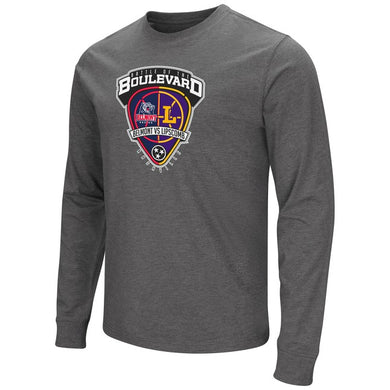 Colosseum Men's Dual Blend LS Tee, Charcoal