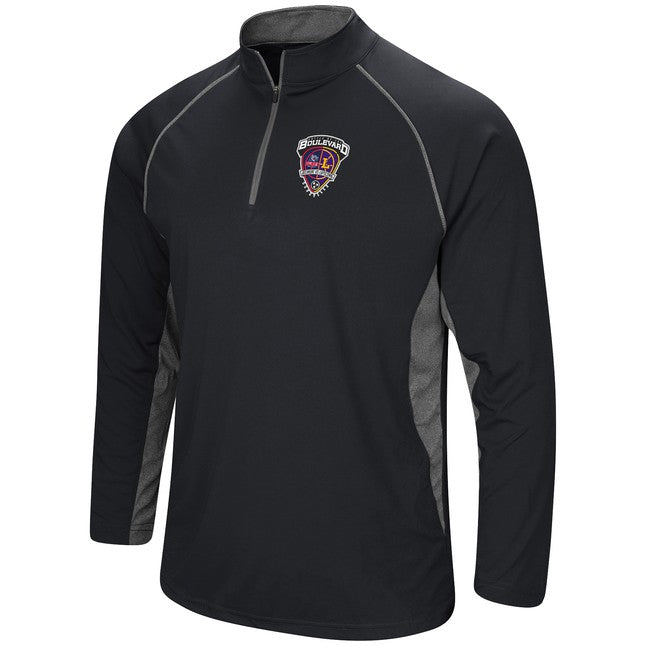 Colosseum Men's 1/4 Zip Pullover, Black