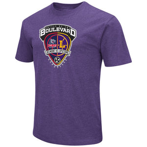 Colosseum Men's Duel Blend SS Tee, Purple