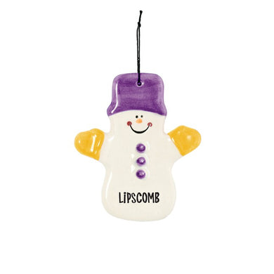 Spirit Products Claude the Snowman Ceramic Ornament