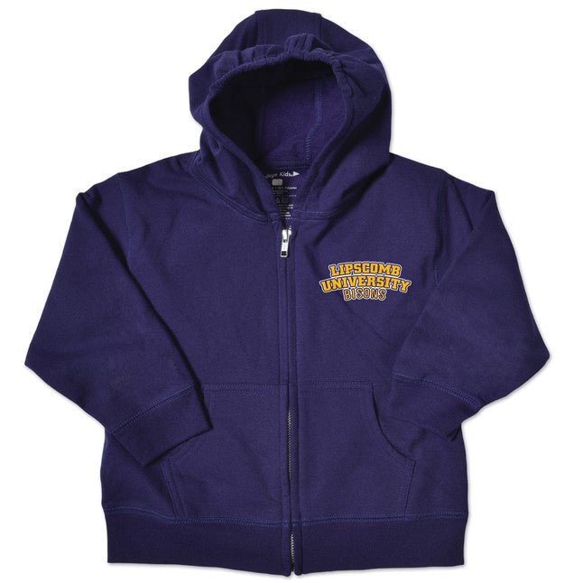 College Kids Toddler Zip Hood, Purple