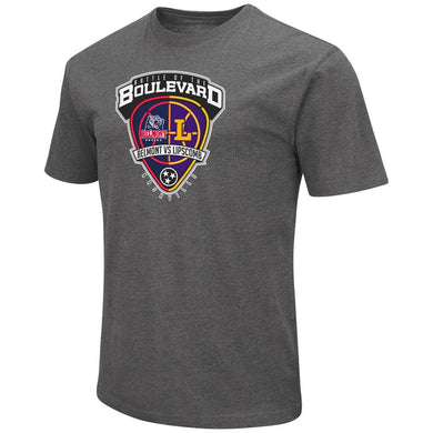 Colosseum Men's Dual Blend SS Tee, Charcoal