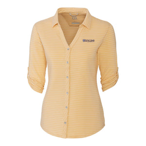Cutter & Buck Women's Academy Stripe Polo, Desert