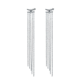 Two Ways Wear Chic Chandelier Diamond Earrings
