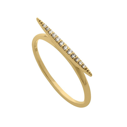 Classic Micro Pave Diamond Bar Ring