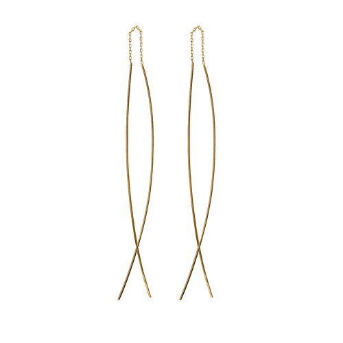 Minimalist Gold Threader Earrings