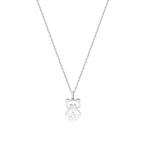 Plump Piggy Floating Diamonds Gold Pendant