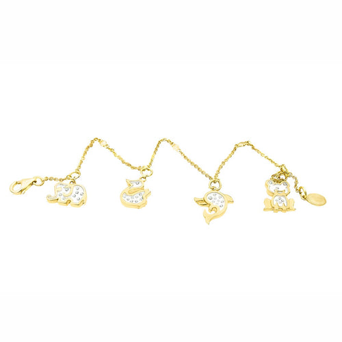 Little Zoo Floating Diamonds Charm Bracelet