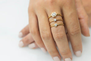 Twilight Hexagon Diamond Ring